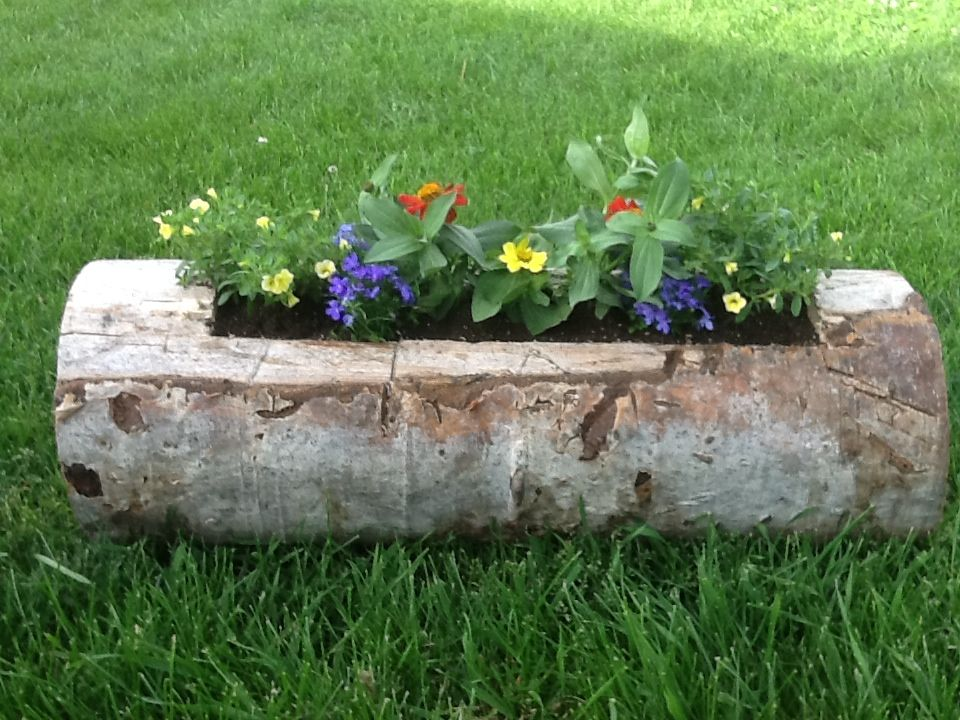 Here is the first planter Barry made. It turned out so cute!