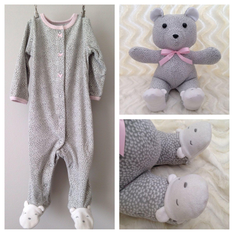 Keepsake Bear, Memory Bear, Teddy Bear Made from Baby Onesie | Nähen
