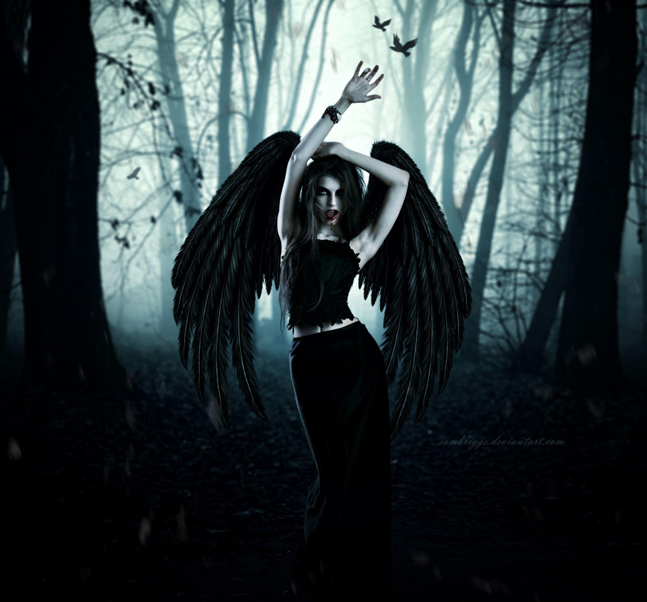 Черный ангел картинки девушка