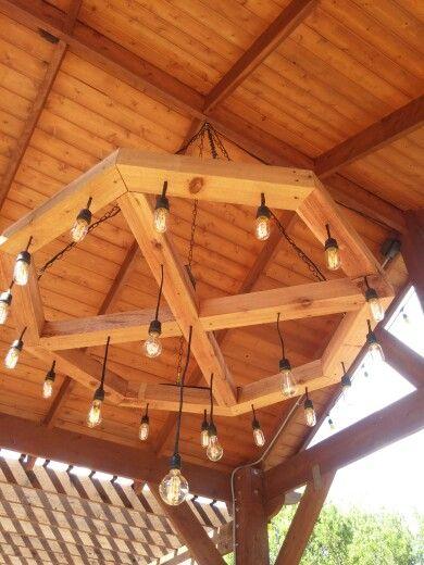 Handmade outdoor chandelier #DIY