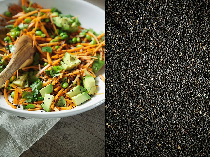 ginger, citrus + black sesame carrots w/ edamame » The First Mess // Plant-Based Recipes + Photography by Laura Wright