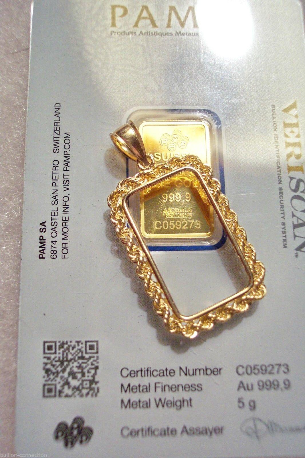 Best Of 5 Gram Gold Bar Pendant