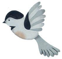 Flying Chickadee Stencil   Chickadee, Birds, Stencils - photo#31
