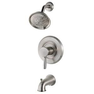 $99 Universal Traditional 1-Handle Tub/Shower Trim in Brushed Stainless Steel-R90-TD2K at The Home Depot