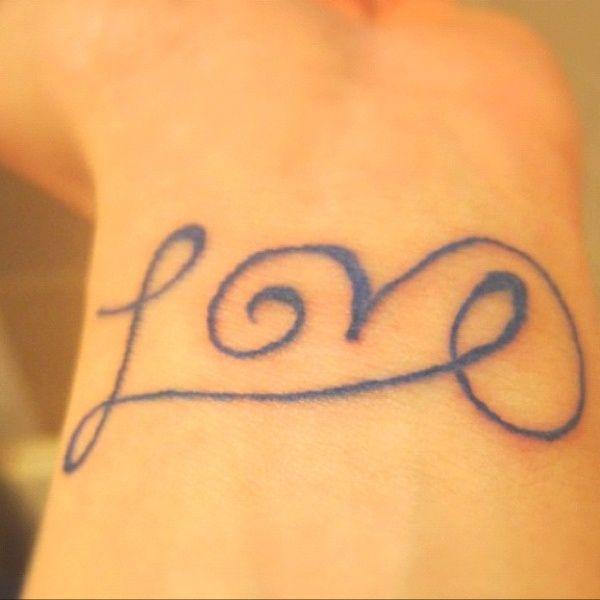 Love Tattoo Jillyx24 One More Night Love Wrist Tattoo Wrist Tattoos Love Tattoos