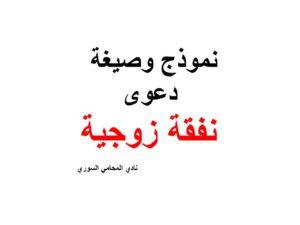 صيغة ونموذج دعوى نفقة زوجية نادي المحامي السوري Arabic Calligraphy Calligraphy