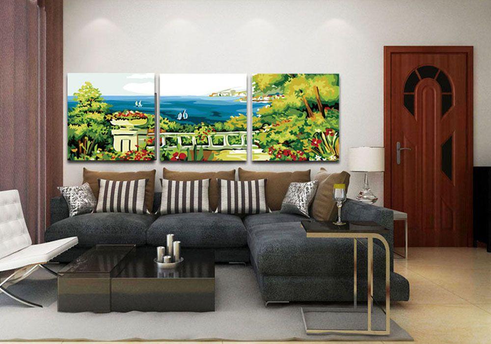 Картина по номерам «Терраса с видом на море»   Большая ...