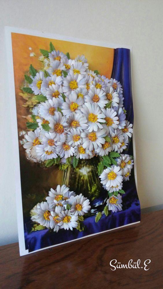 Papatya; her dem güzel kalabilen demek olsa gerek... her dem temiz... | Sanat-estetik | Plaster art, Sculpture painting, Clay art