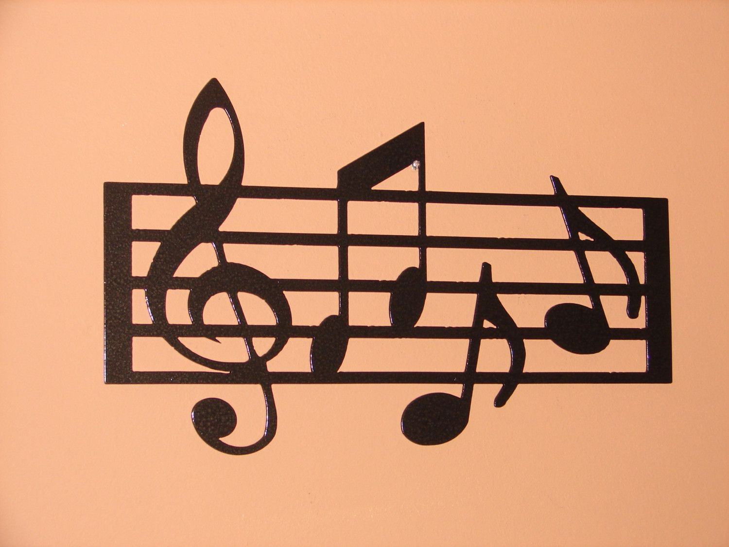Metal Wall Art Home Decor Music Notes Musical 18 5in Long 12in Tall Staff
