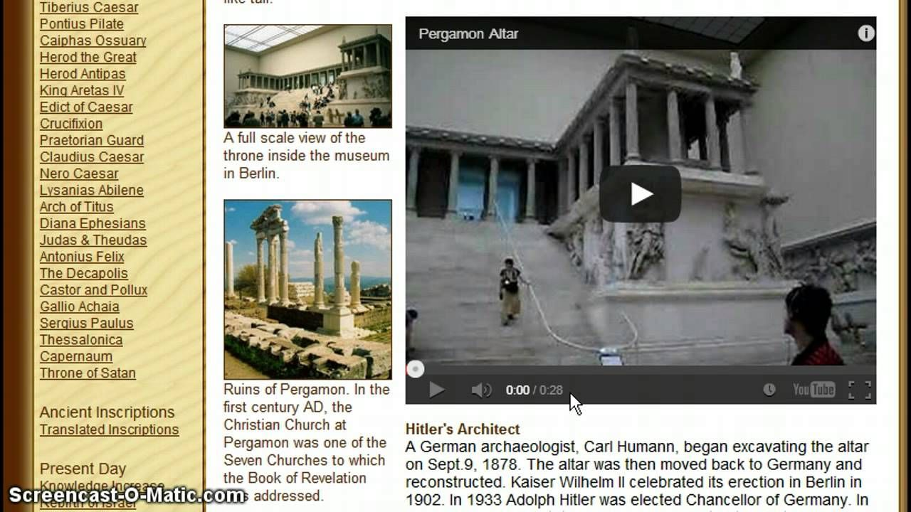 Obama To Visit The Throne Of Satan At Berlin Museum On June 18th 19th Arch Of Titus Pergamon Berlin