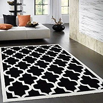 tapis salon beige et noir. Black Bedroom Furniture Sets. Home Design Ideas