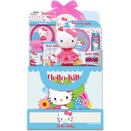 Hello kitty tote easter gift set walmart online pinterest hello kitty tote easter gift set negle Images