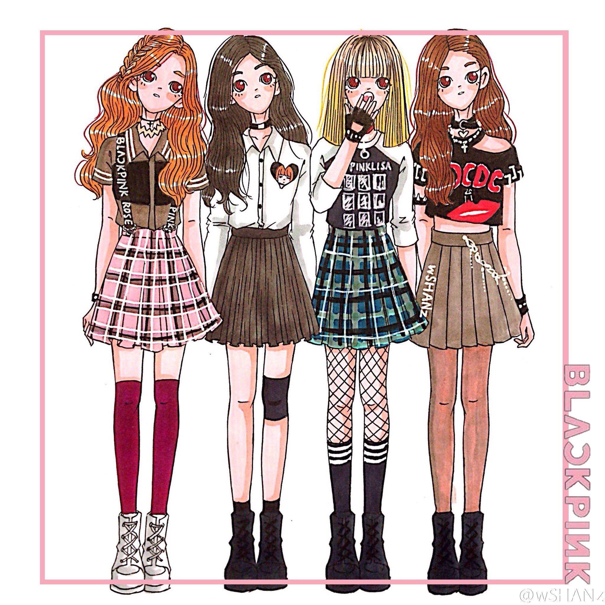 Black pink (Dengan gambar) | Animasi, Ilustrasi, Gambar
