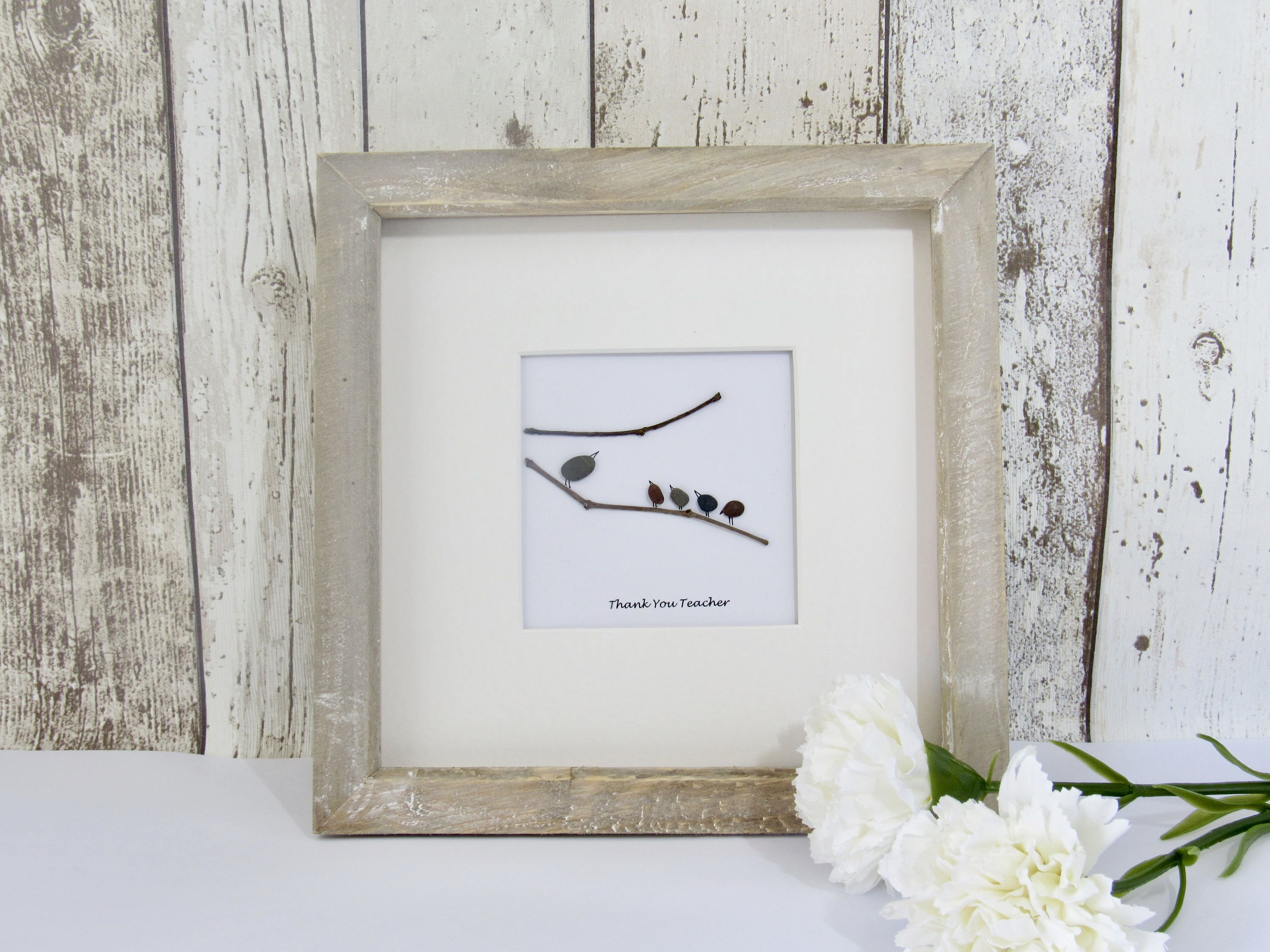 Home interiors and gifts framed art - Pebble Art Home Decor Pebble Pictures Wall Art Birds Congratulations Thank You Gift Gift For Her Teacher Gift Childminder Gift