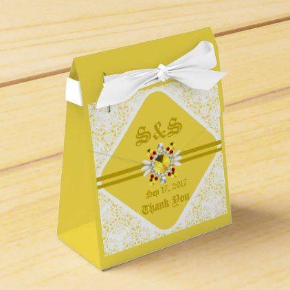 Yellow Wedding Tent Favor Box W Gf Birthday Gifts Party Celebration Custom Gift Ideas