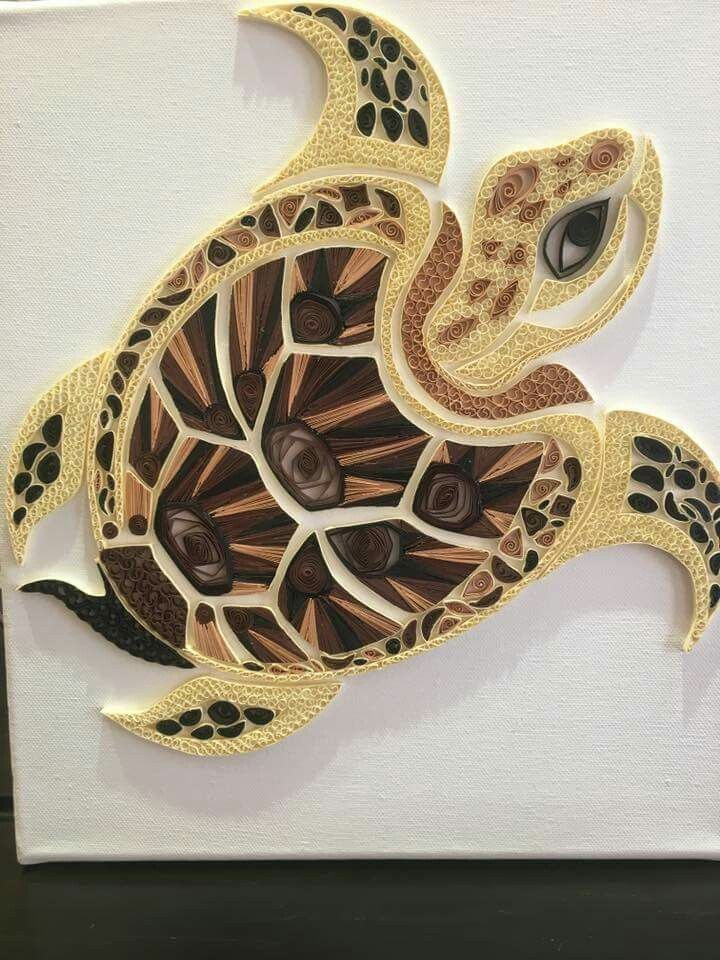Sea turtle paper quilling - Diy How to Crafts