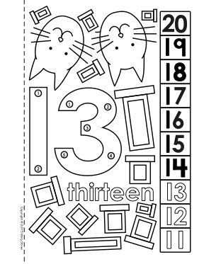 Dot To Dot Number Book 11 20 Activity Coloring Pages Numbers