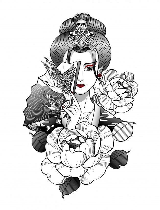Freepik Graphic Resources For Everyone Geisha Tattoo Design Japanese Tattoo Art Geisha Tattoo