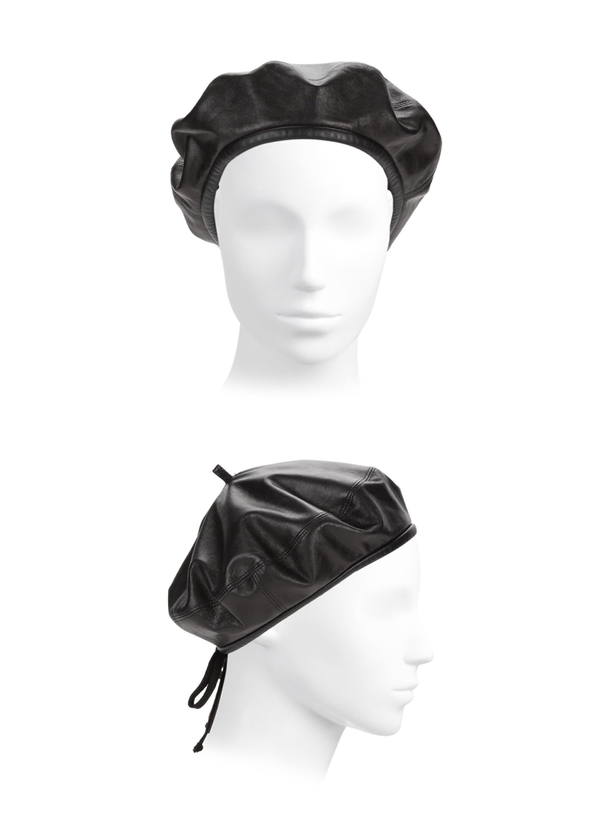 Kate Leather Beret by ERIC JAVITS in 2018  5097754e288