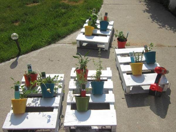 DIY Palette Vertikaler Kräutergarten #kräutergartenpalette