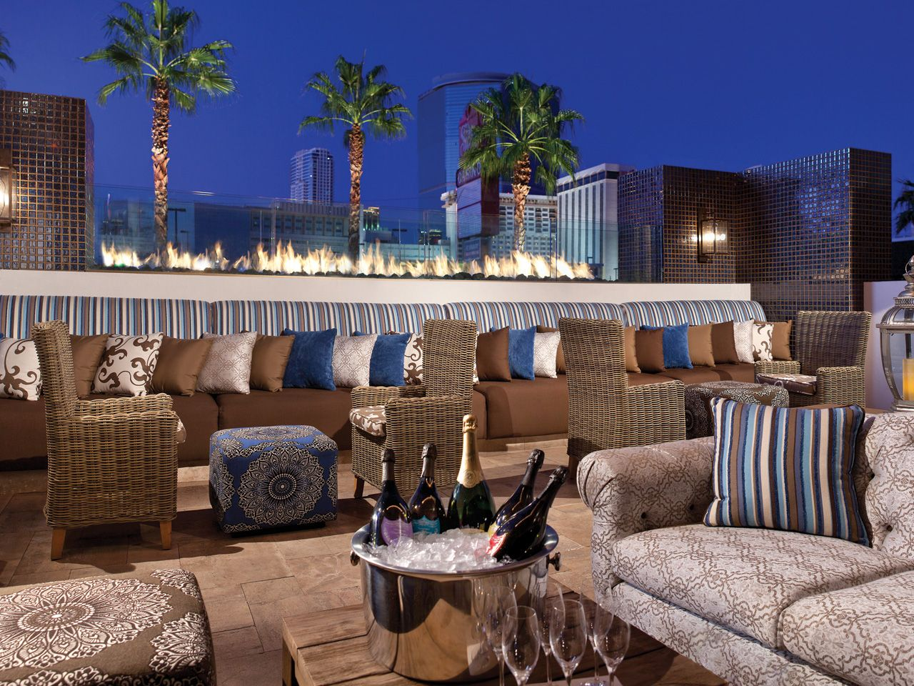 Rooftop lounge at the Barrymore