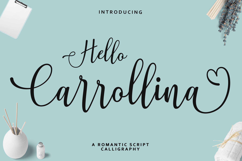 Hello Carrollina Script (280980) Calligraphy Font