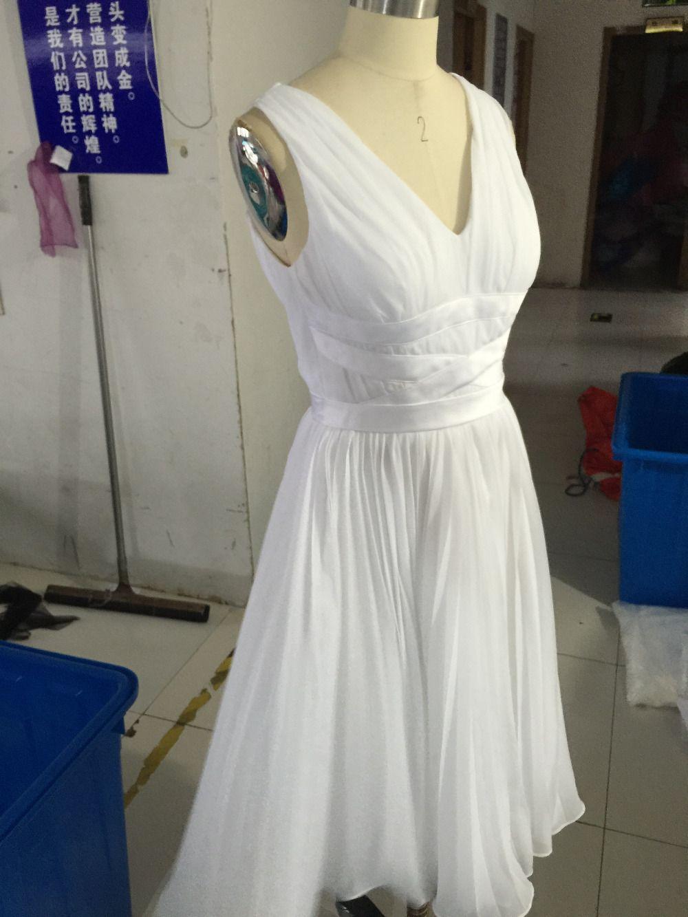 Click to buy ucuc newest beach light sky blue bridesmaid dresses