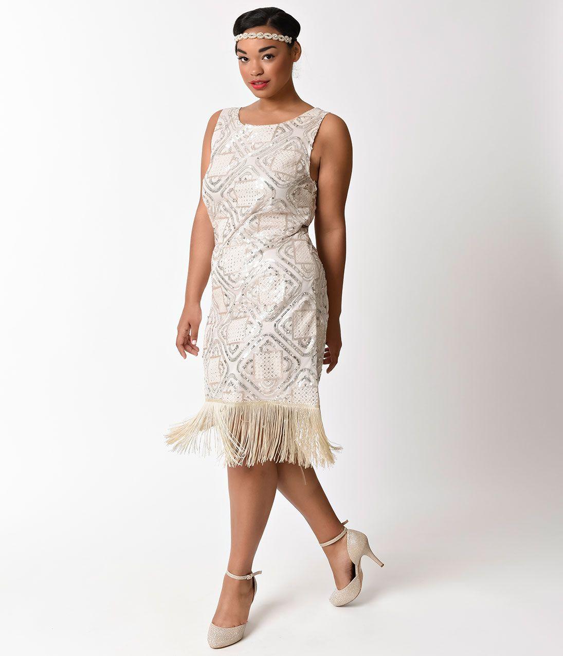 Shop 1920s Plus Size Dresses And Costumes Fringe Flapper Dress