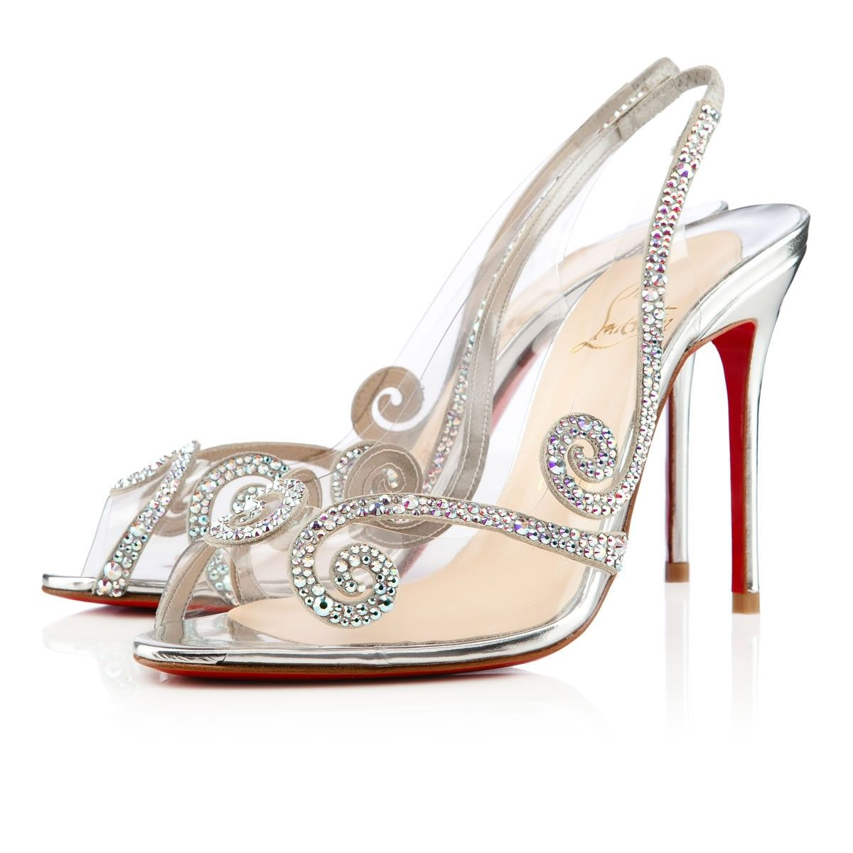sandales blanches louboutin