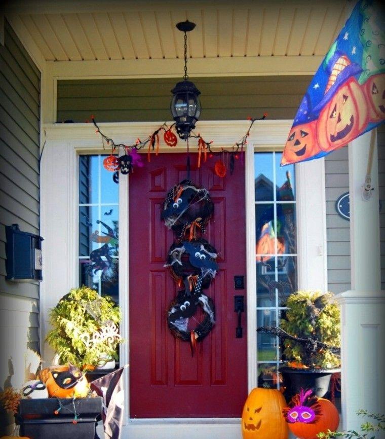 Imagenes halloween decoracion puerta miedo impactante for Decoracion puertas halloween