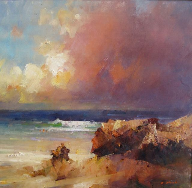 Contemporary Art Gallery Melbourne Australia David Chen 8 Seascape Paintings Abstract Landscape Cityscape Painting