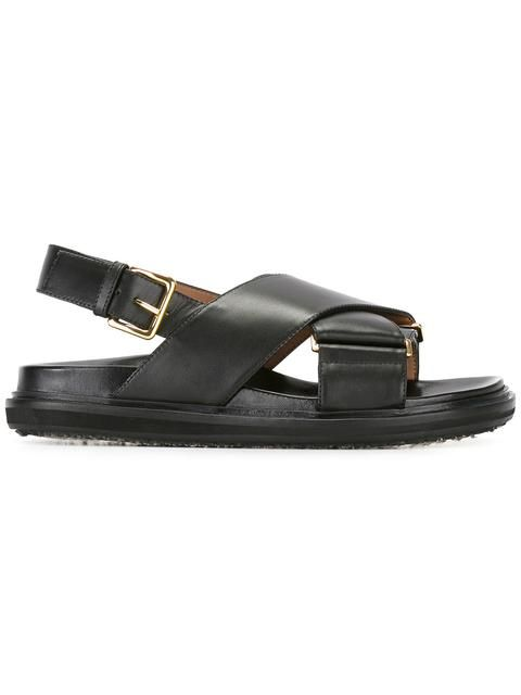 MARNI Fussbett Sandals. #marni #shoes #sandals | Black