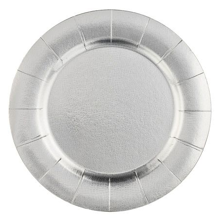 Charger Plates - Plastic Plates - Disposable Dinnerware  sc 1 st  Pinterest & Set of 10 Silver Disposable Charger Plates | reception | Pinterest ...