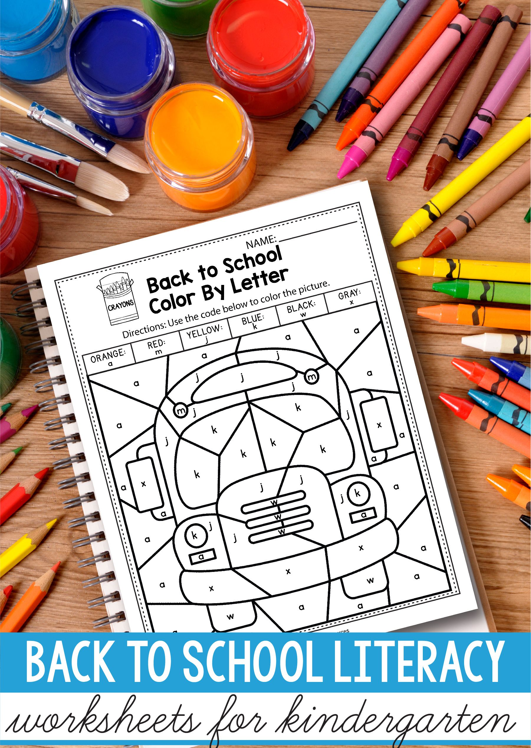 Back To School Literacy Activities For Kindergarten 1st Grade And Preschool Is Fun With This