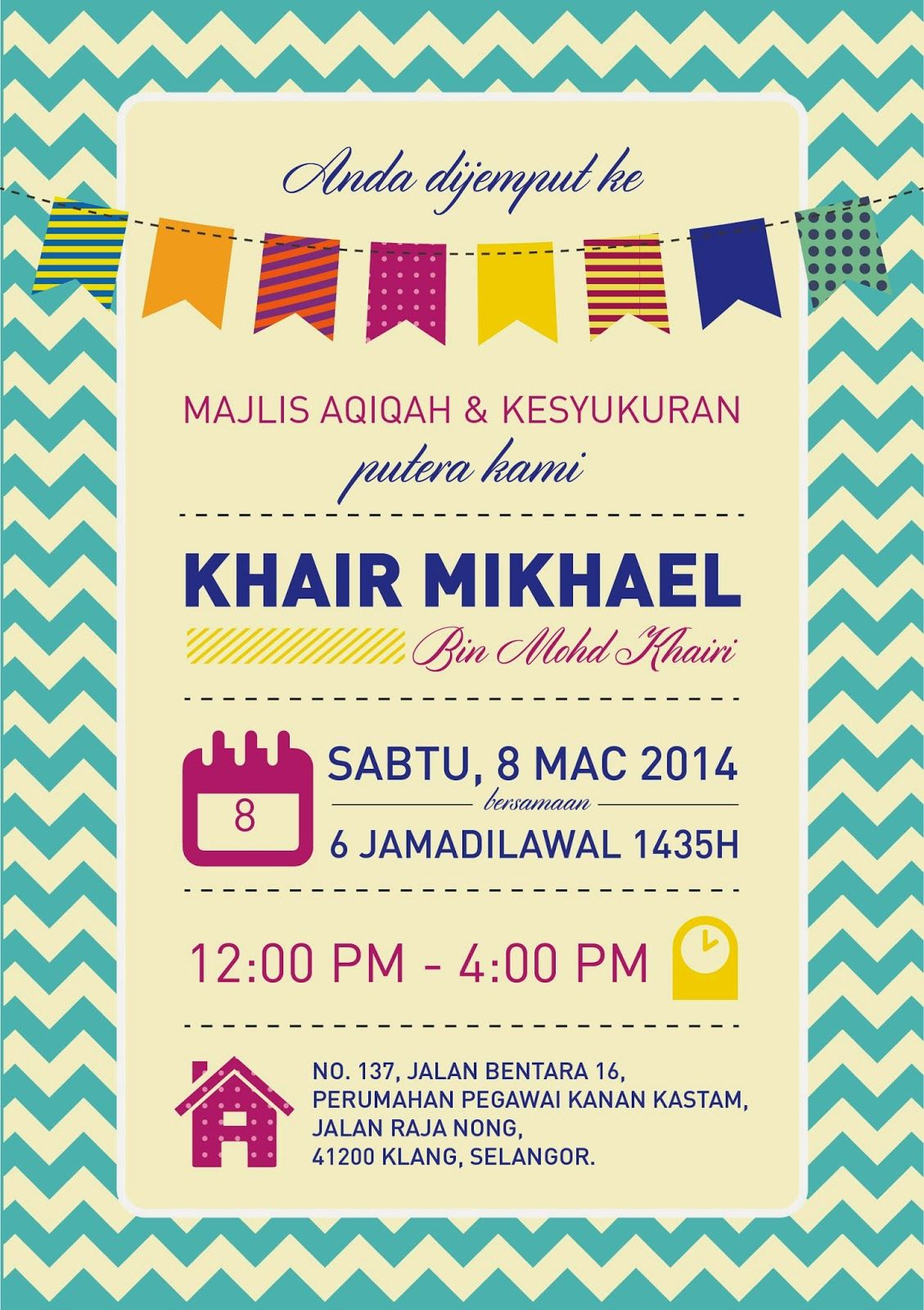 Invite for aqiqah akikah pinterest birthdays invite for aqiqah stopboris Image collections