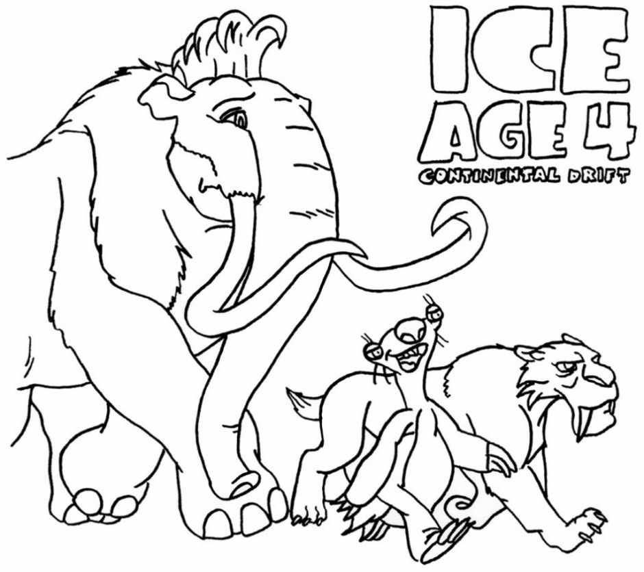 Manny Ice Age Coloring Pages First Coloring For Our Children Ice Age Ausmalbilder Malvorlagen