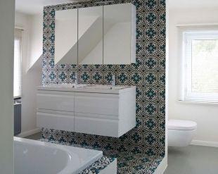 Cementtegels In Badkamer : Fotos van cementtegels & projecten met portugese tegels badkamer