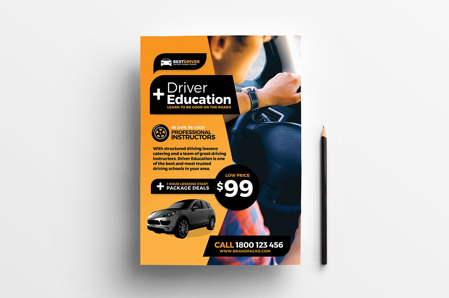 Free Driving School Poster Rack Card Template Psd Ai Vector