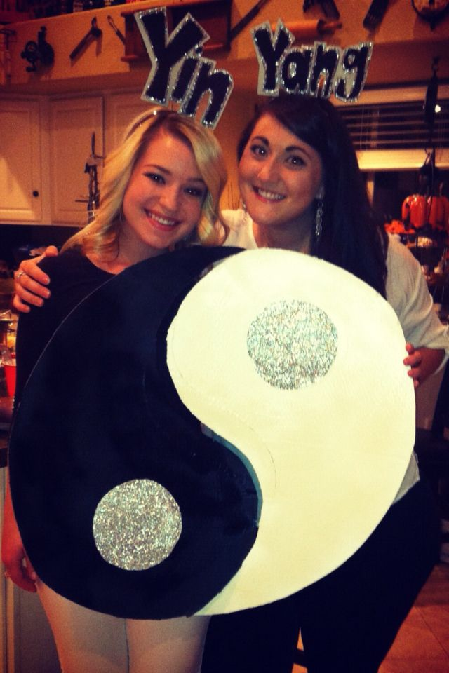 Yin and Yang Couples Costume Halloween Pinterest Homemade - best halloween costume ideas for couples