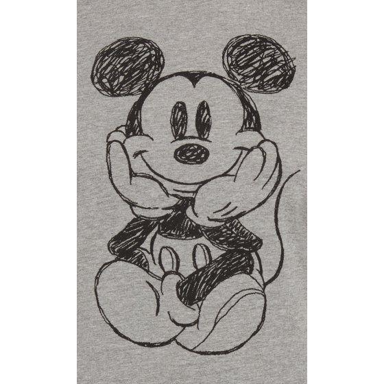 82c2236e Juniors Mickey Mouse Sketch Short Sleeve Ringer T-Shirt Gray - Walmart.com