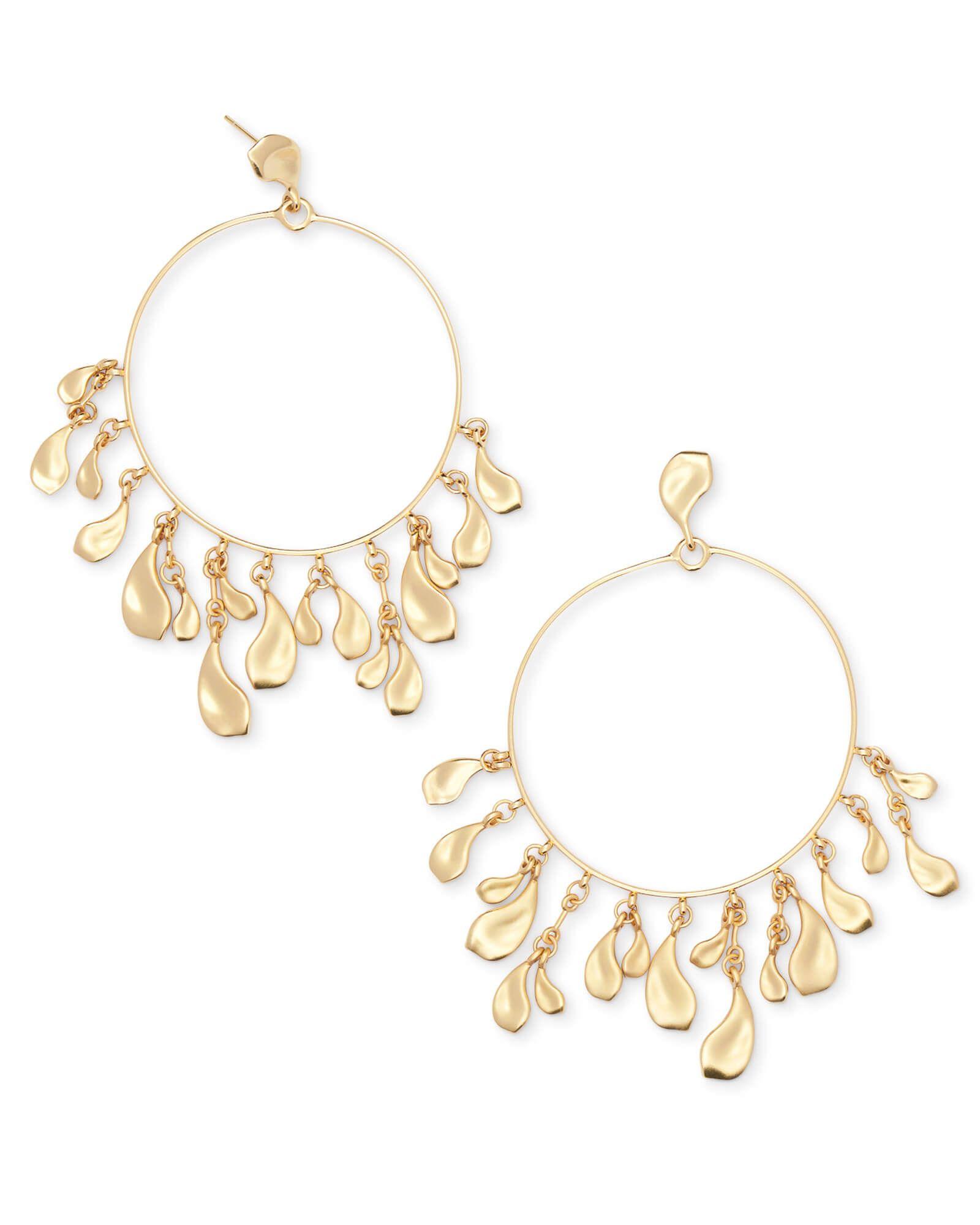 Shop natasha hoop earrings in gold at kendra scott featuring