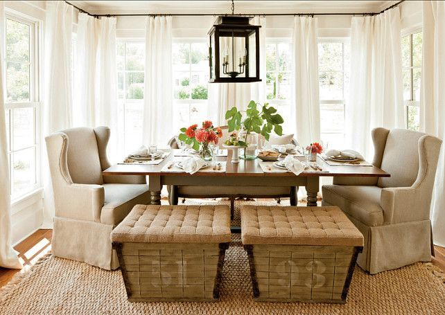 Dining Room Rustic Casual Design Mixing Seating In A