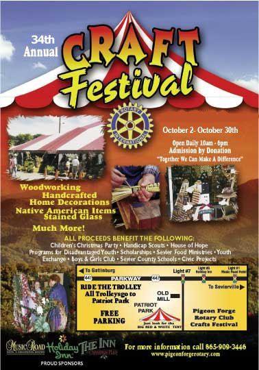 34th Annual Craft Festival Pigeon Forge Tennessee Gatlinburg