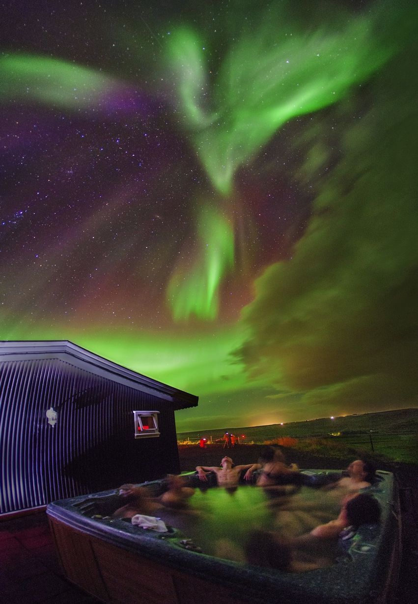 Natural Jacuzzi Iceland.Aurora Borealis Amazing Pictures Of The Northern Lights
