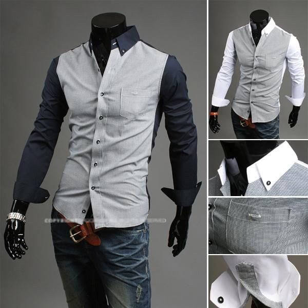 38edfb55 2016 New Clothes Men'S Fashion Luxury Stylish Casual Designer Dress Shirt  Muscle Fit Shirts Autumn And Winter Models Czj834h From Vickycqy, $14.8 |  Dhgate.