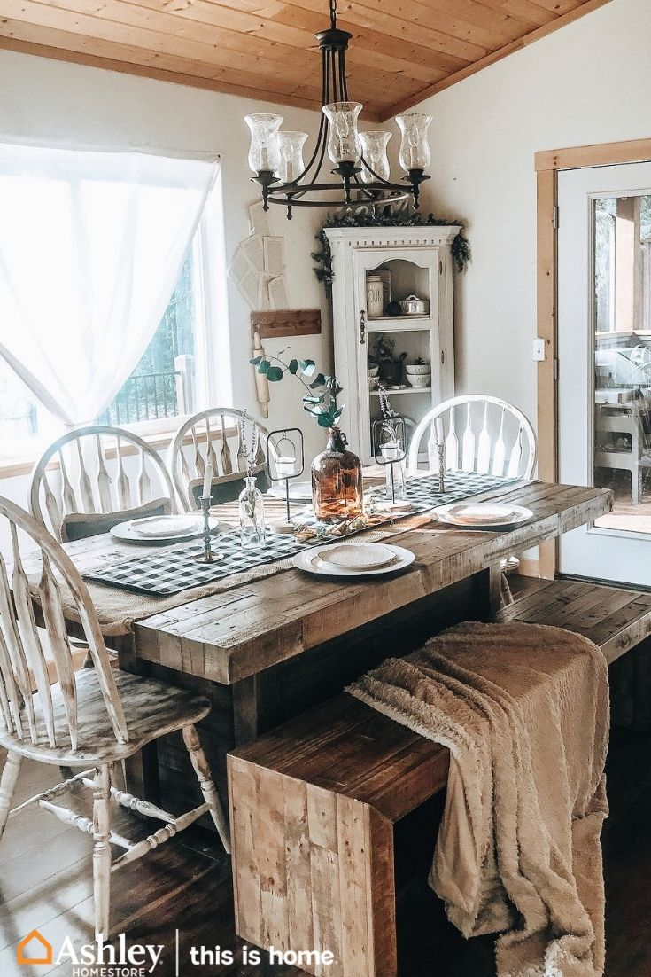 Industrial Farmhouse Table, Sommerford Dining Room Table
