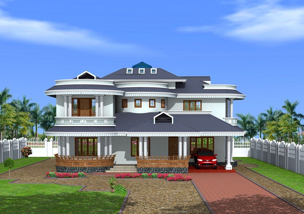 Stylish Bungalows kerala-style-bungalow-design-at-3350-sq.ft_ 1,024×721 pixels