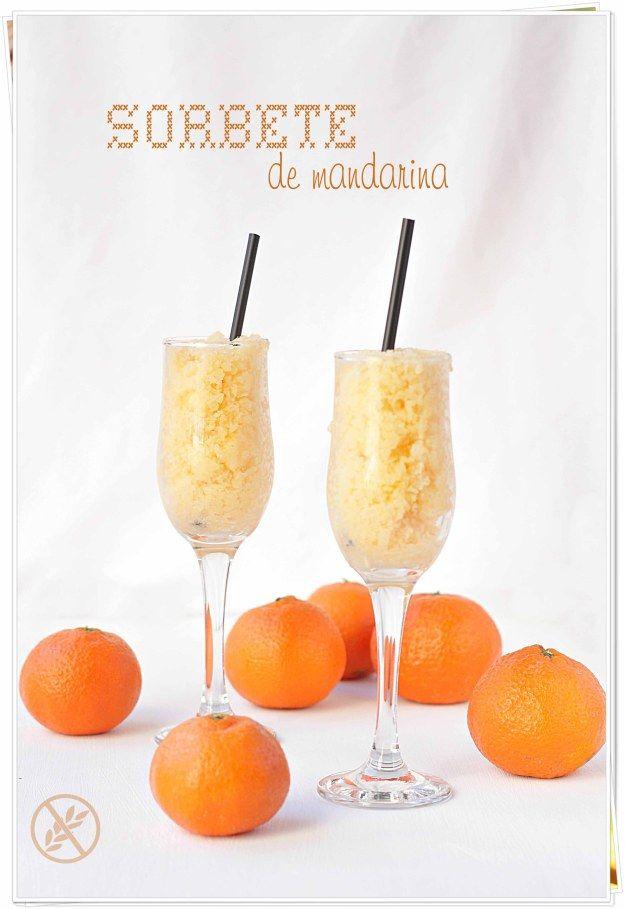 Sorbete De Mandarina Sorbete Postres Ligth Licor Casero