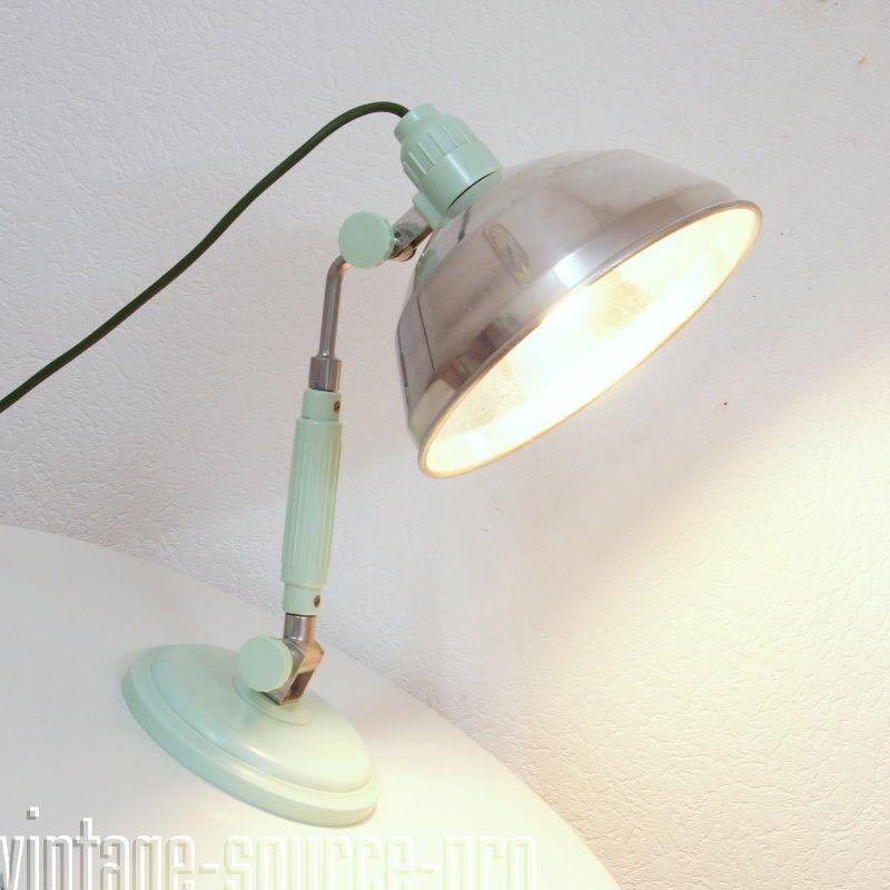 Details zu alte Bauhaus Bakelit Alu Tisch Wand Lampe Arztleuchte ...