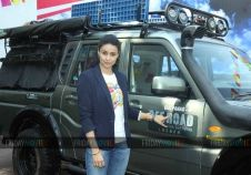 Gul Panag at a press conference for her show 'Off Road with Gul Panag'
